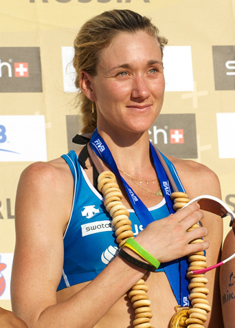 The 40-year old daughter of father (?) and mother(?) Kerri Walsh Jennings in 2018 photo. Kerri Walsh Jennings earned a  million dollar salary - leaving the net worth at 0.3 million in 2018