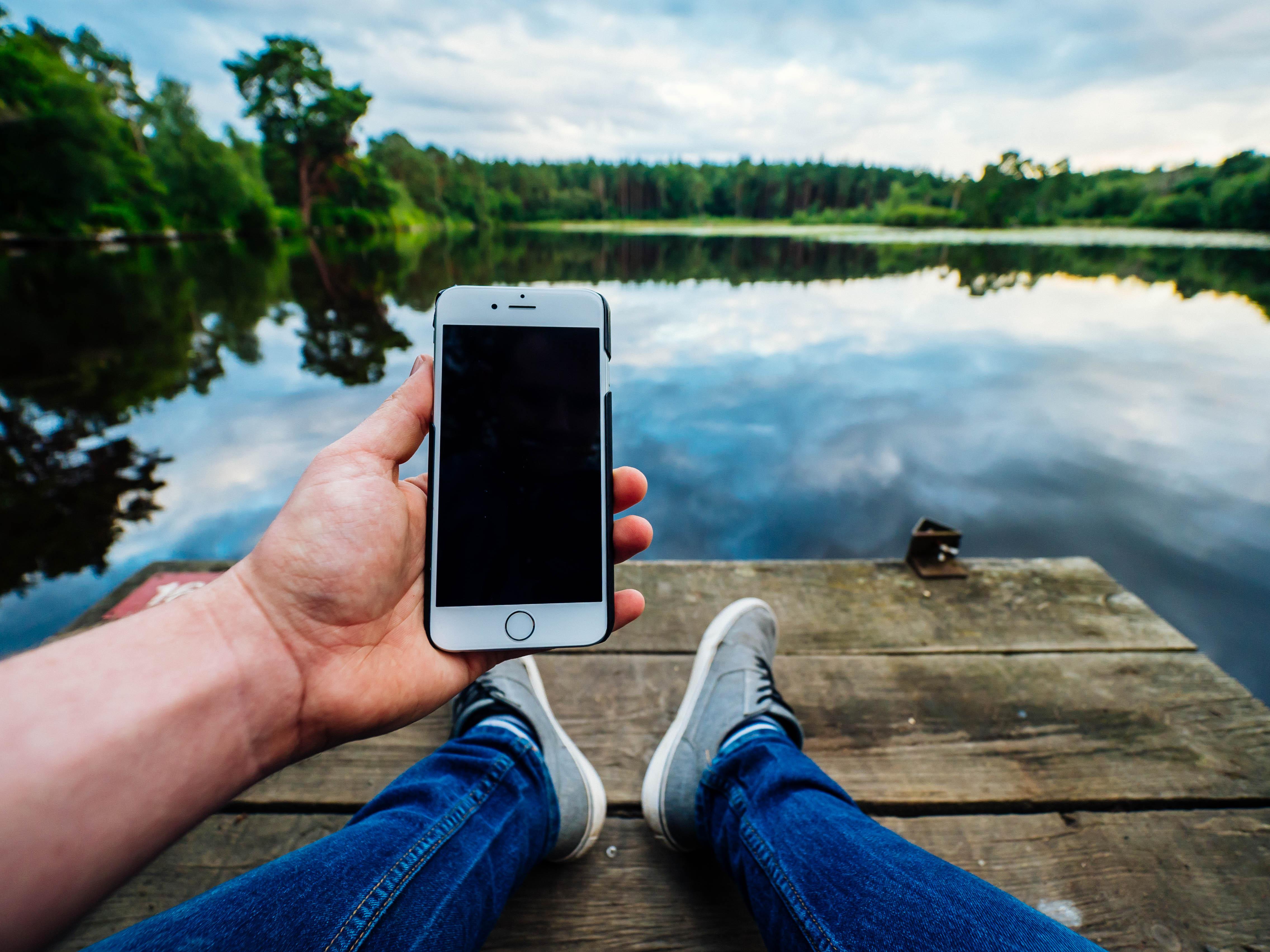 frihet med mobiltelefon