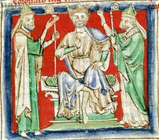 Archbishop Theobald crowning Henry in 1154 Henry2 paris.jpg