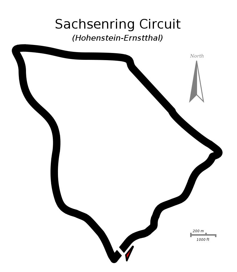Sachsenring Circuit Map Sachsenring Circuit Map