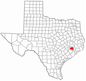 Situo de Houston en Teksaso