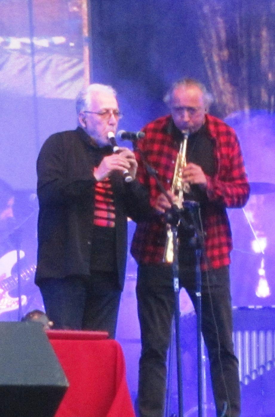 Hugo Pirovich desde 1977 y Jaime Atenas desde 1984, los principales vientistas de la banda