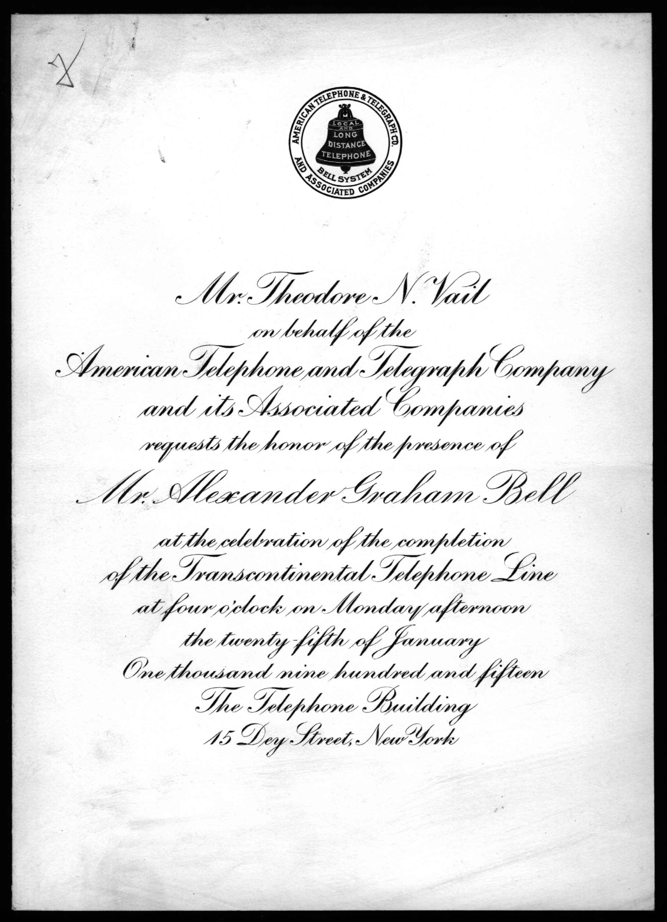 Fileinvitation from theodore n vail to alexander graham bell fileinvitation from theodore n vail to alexander graham bell 1915 transcription stopboris Images