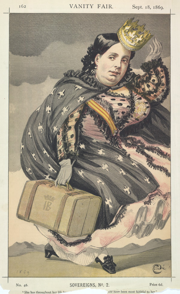 Sovereigns No.2: Caricature of Isabella II of ...