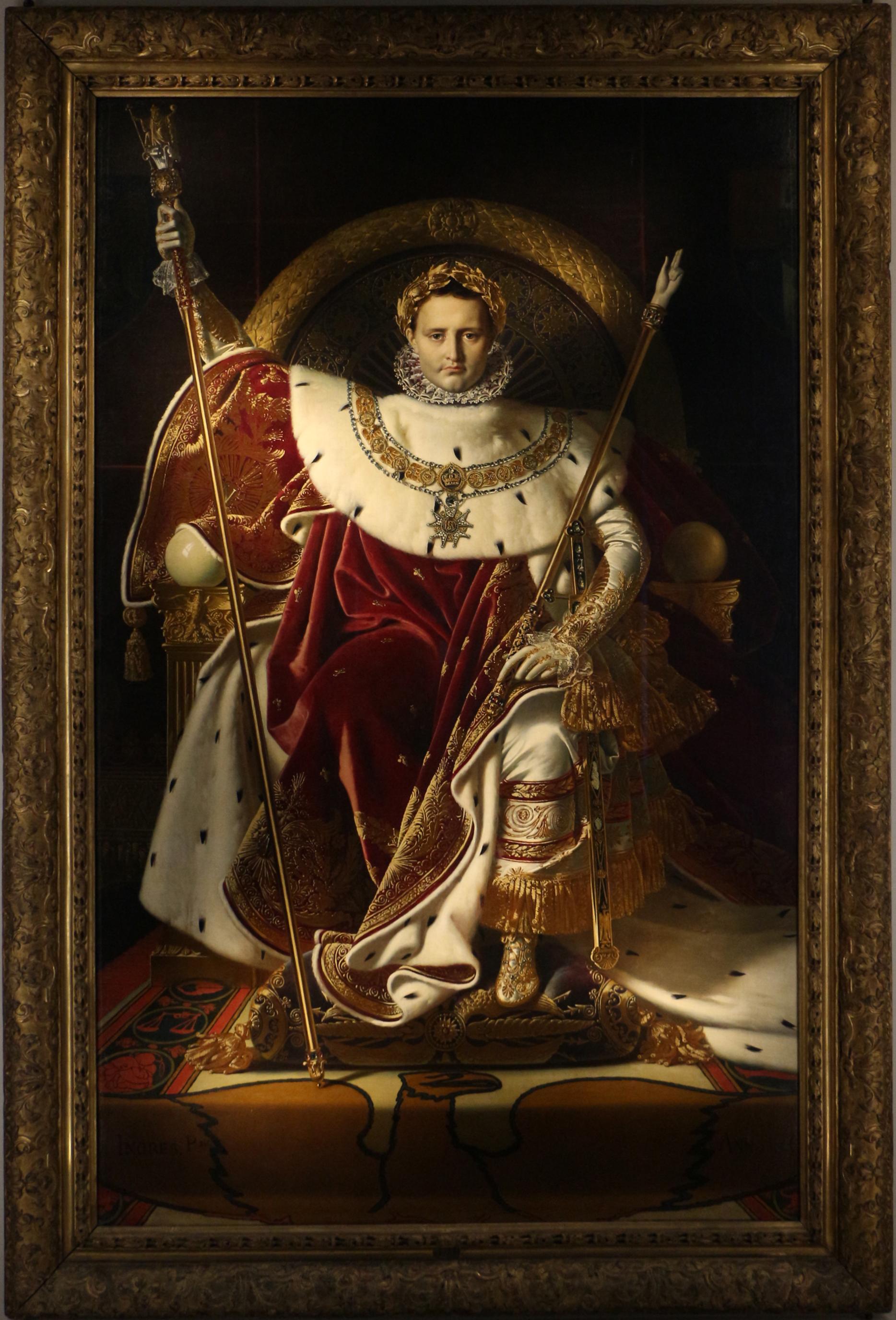 Napoleon Ier Sur Le Trone Imperial Wikipedia