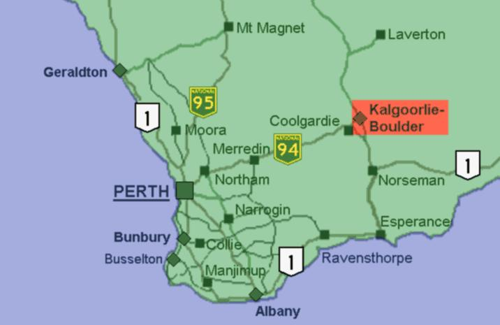 Map Of Australia Gold Rush.Kalgoorlie The Australian Gold Rush
