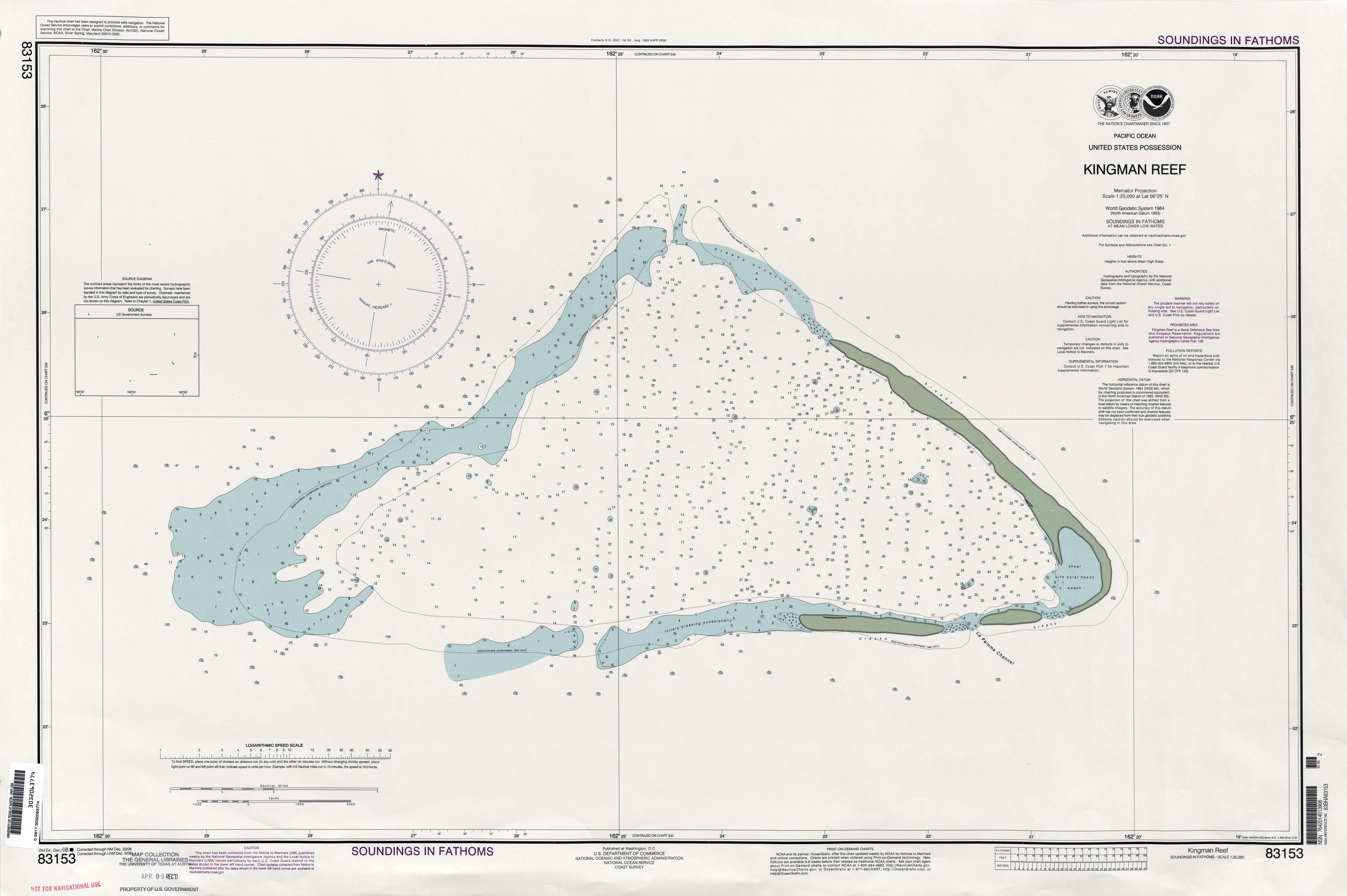 Metric Scale Chart: Kingman Reef NOAA chart.jpg - Wikimedia Commons,Chart