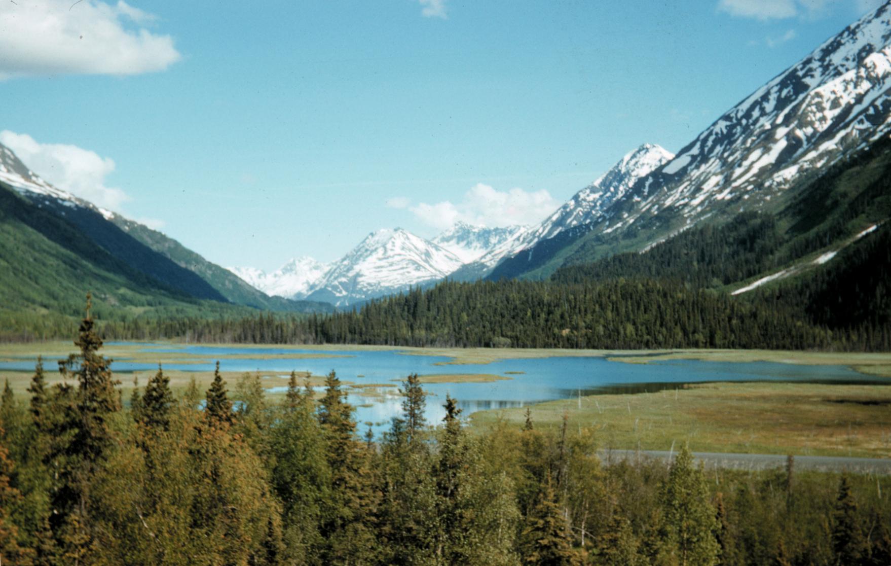 Lakes and mountains on the Kenai Peninsula