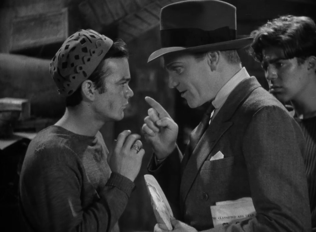 Leo Gorcey and James Cagney in Angels with Dirty Faces (1938)