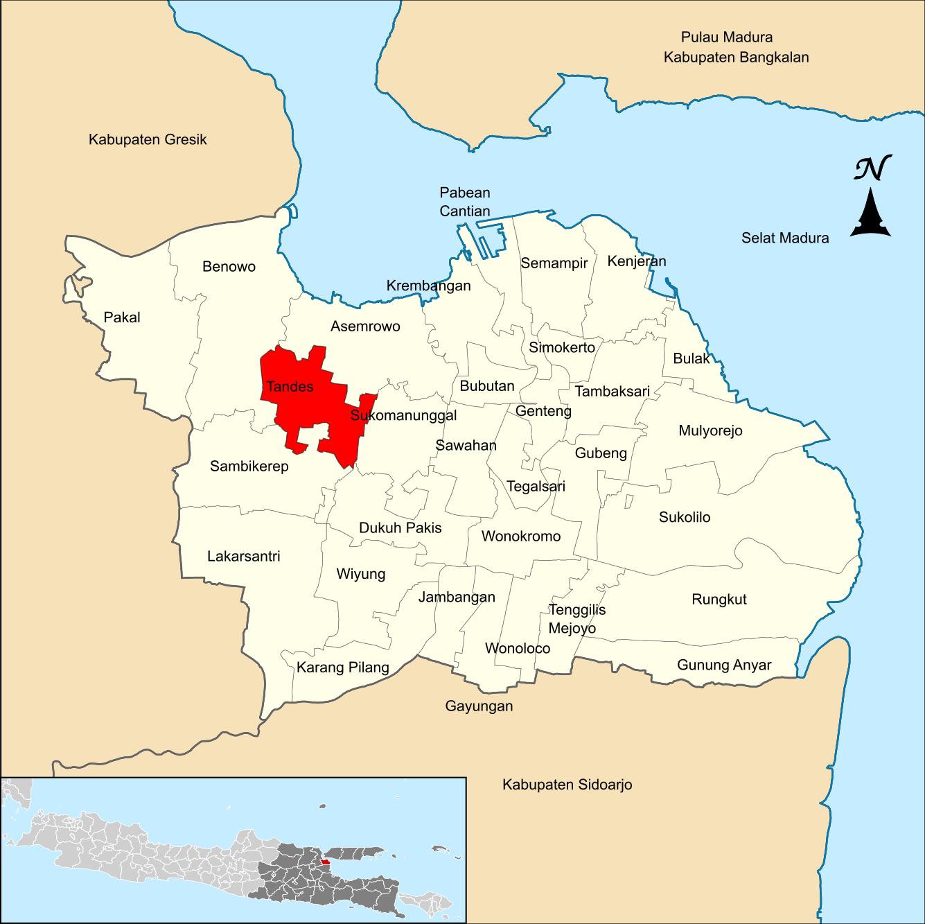 Tandes, Surabaya - Wikipedia bahasa Indonesia ...