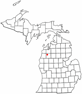 Location of Sherman, Michigan.