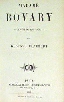 Первое издание романа «Госпожа Бовари» 1857.Титул