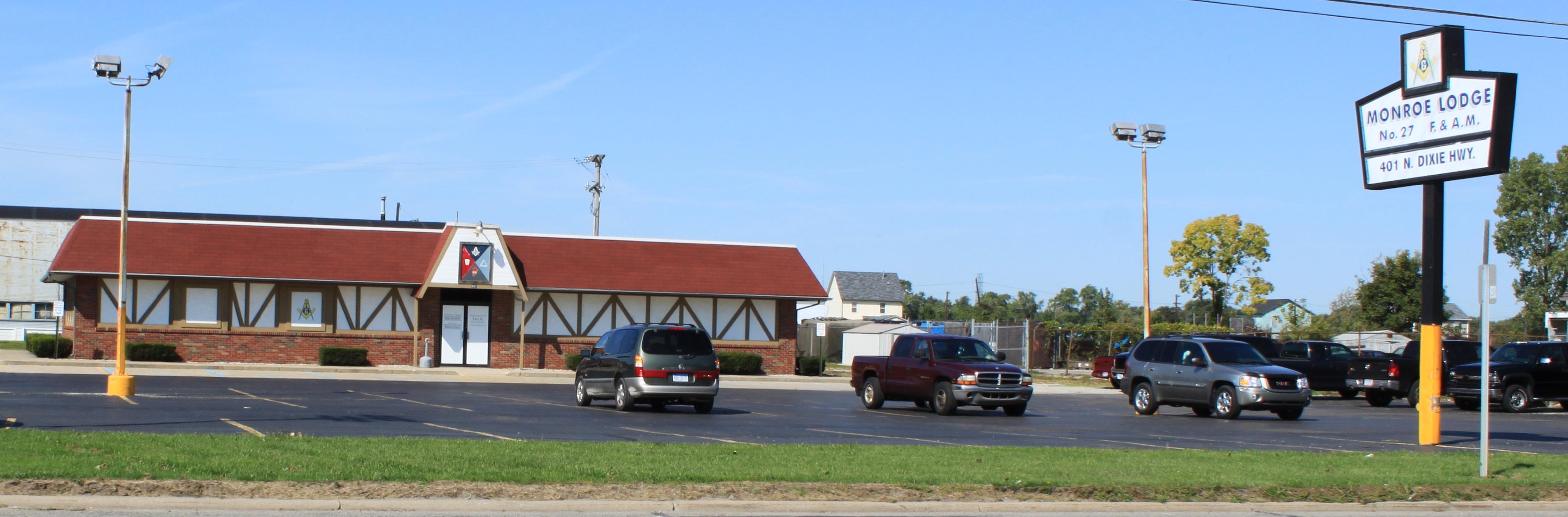 File:Masonic Lodge No. 27, 401 North Dixie Highway, Monroe ...
