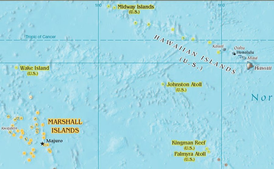 Howland Island On World Map.Atlas Of Midway Atoll Wikimedia Commons