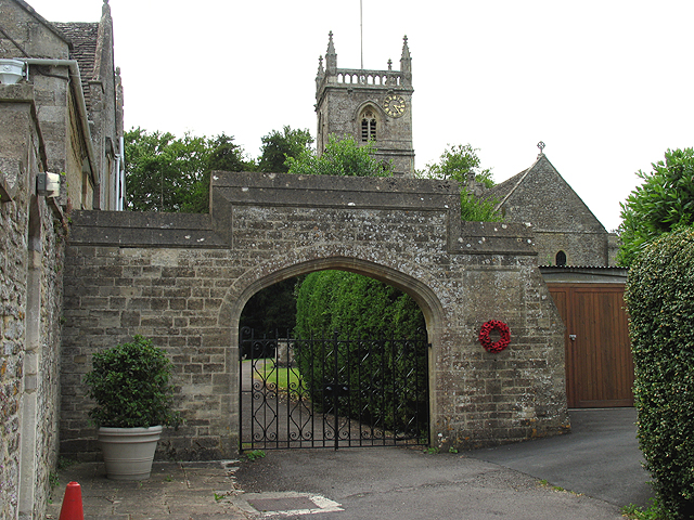 Off Centre Clock, Church in Coln St Aldwyns - geograph.org.uk - 22449