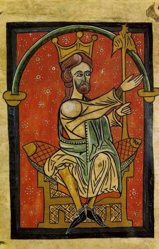 Ordoño II según una miniatura medieval de la Catedral de León.
