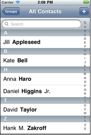 A Sencha Touch app with an iOS6 theme