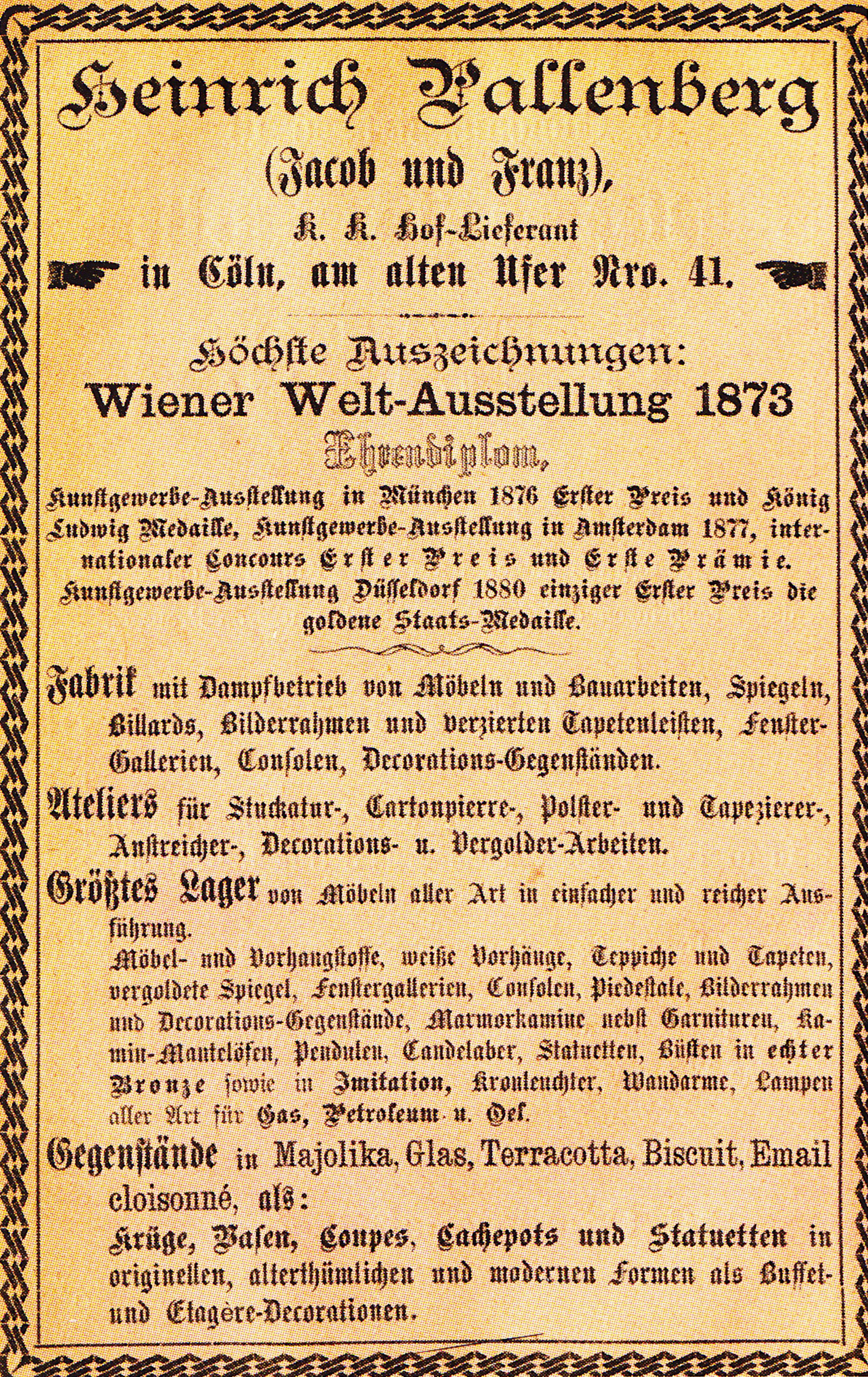 Dateipallenberg Diplom Wiener Weltausstellung 1873jpg Wikipedia