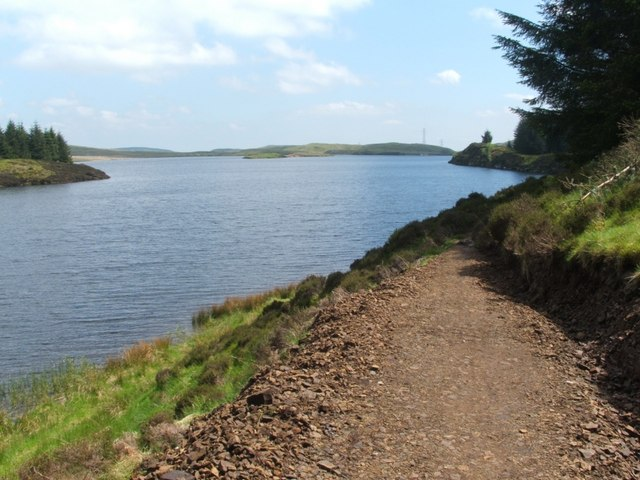 Path beside southern shore of Loch Humphrey - geograph.org.uk - 1335247