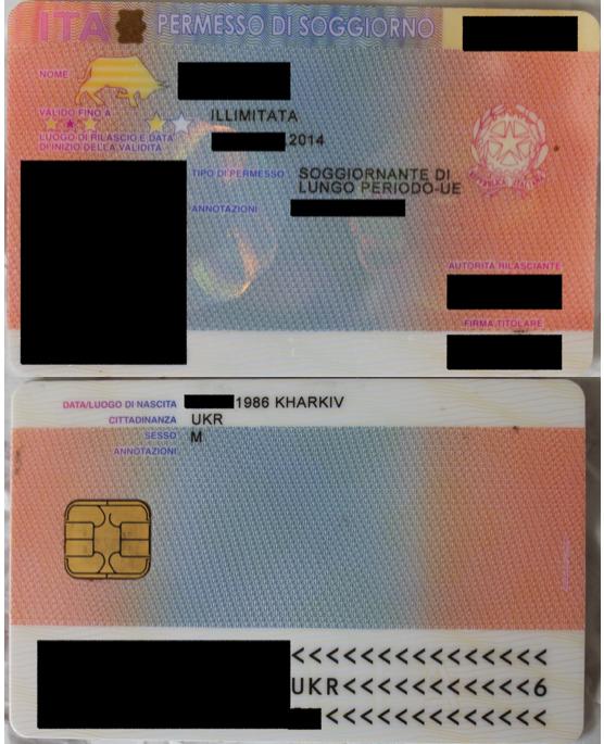 File:Permesso di soggiorno italiano con dicitura KHARKIV .png ...