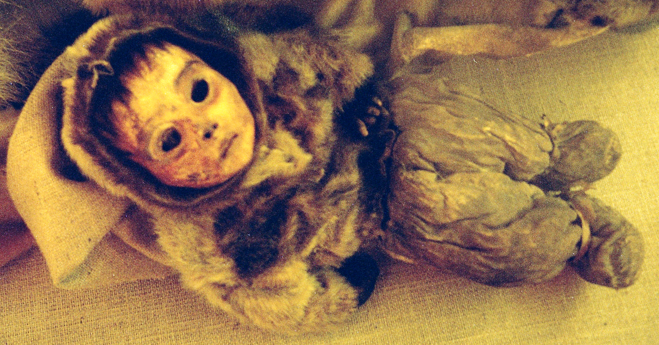 A mummified 6-month-old Inuit child, estimated to be from ...