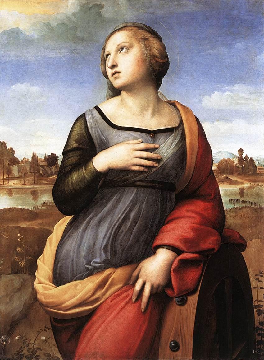 Santa Caterina d'Alessandria dipinta da Raffaello