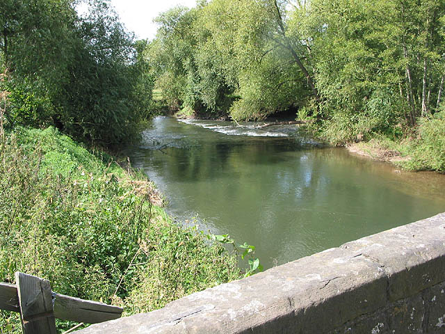 River Lugg from Mordiford Bridge - geograph.org.uk - 537746