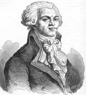 19th Century engraving of Robespierre.