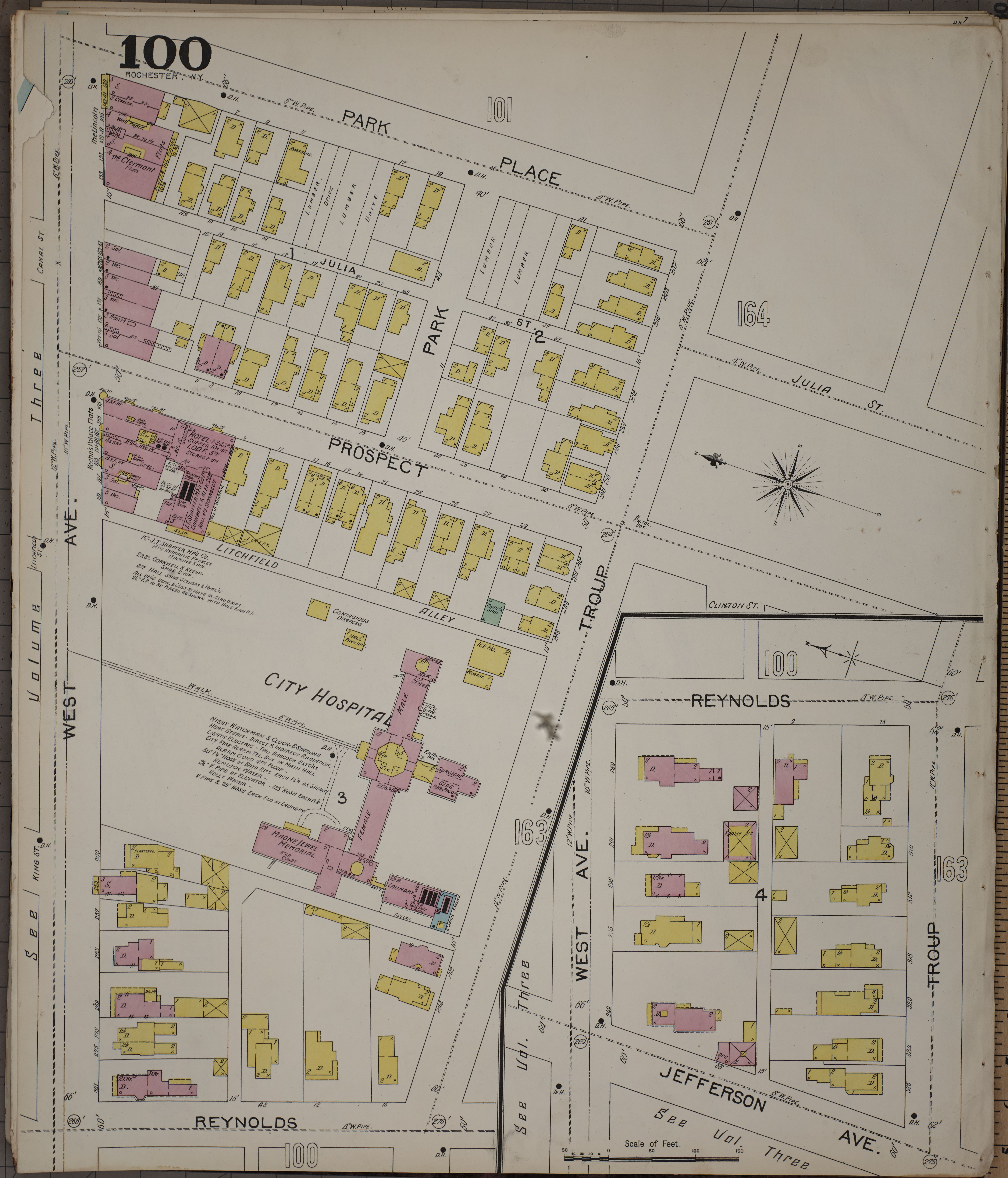 County Line 2 Fire Map.File Sanborn Fire Insurance Map From Rochester Monroe County New