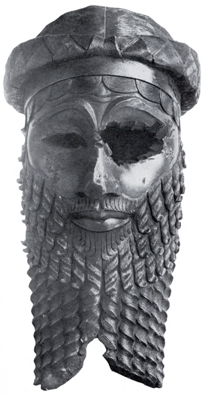 Bronze head of a king, most likely Sargon of A...