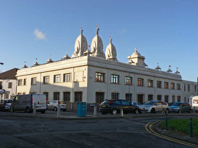 Shree Swaminarayan Temple - Cardiff - geograph.org.uk - 1605788.jpg