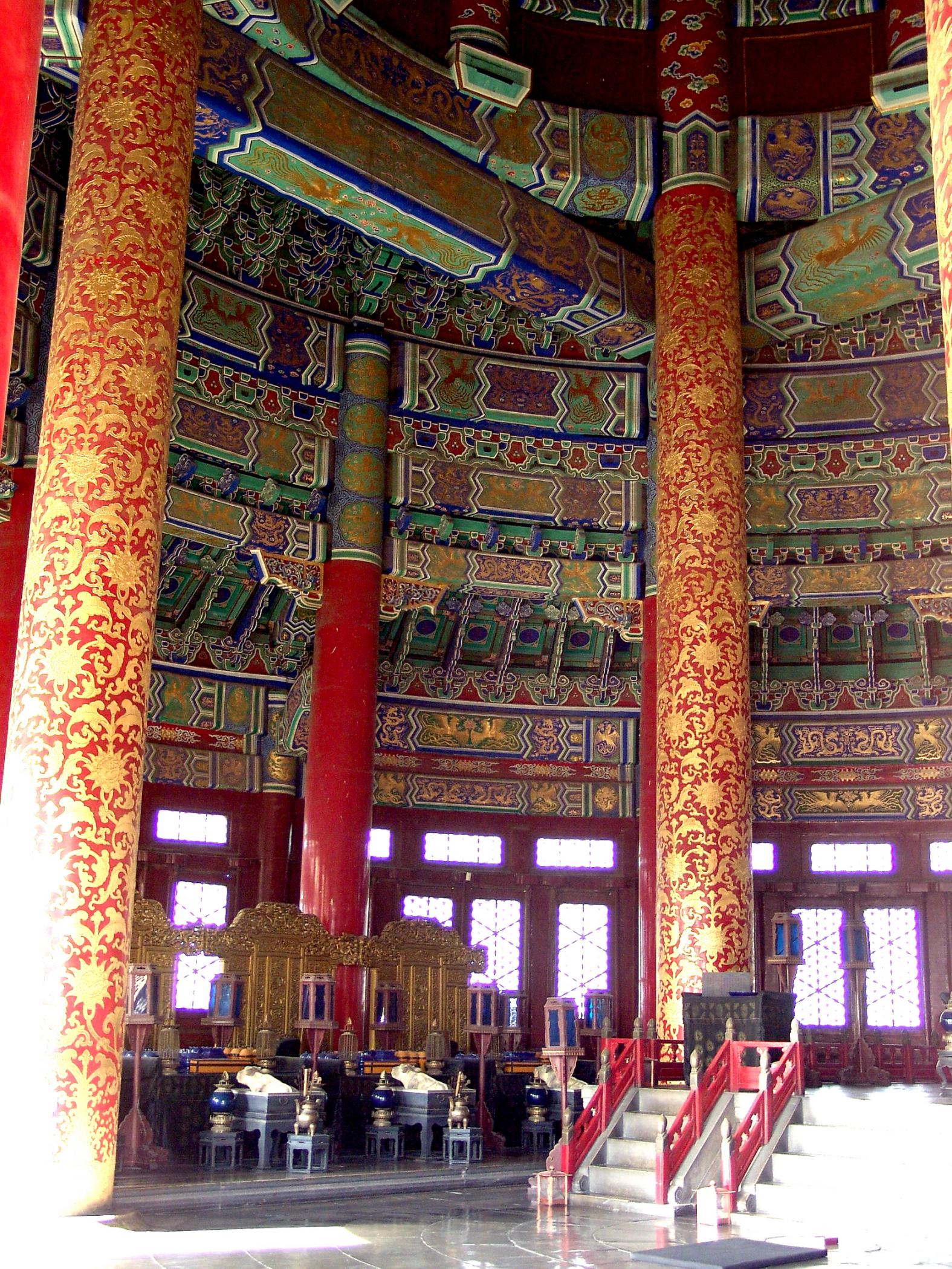 Inside the Hall of Prayer for Good Harvests.