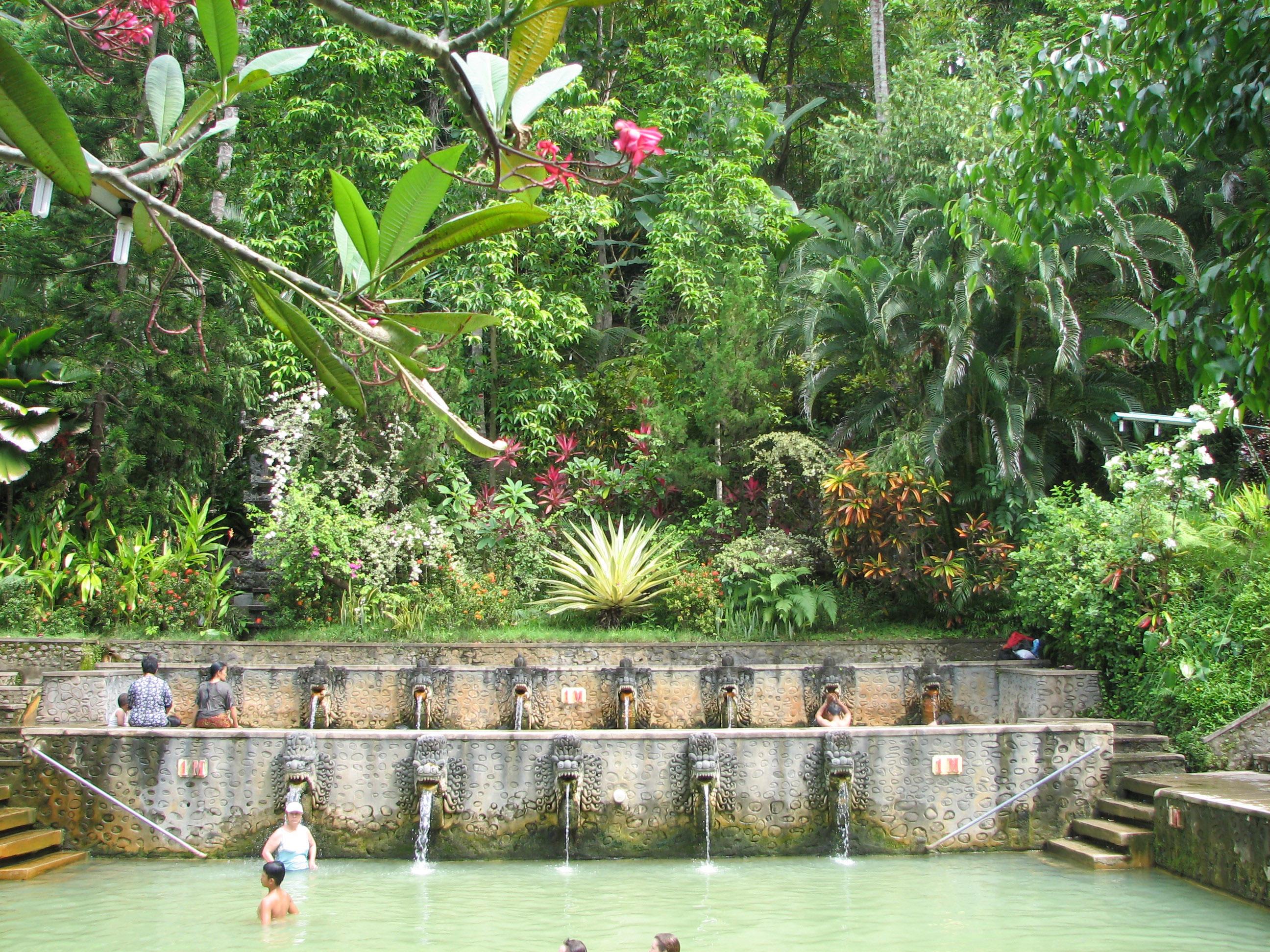 Source chaude à Bali : les bains sacrés de Banjar, chaleur et volupté