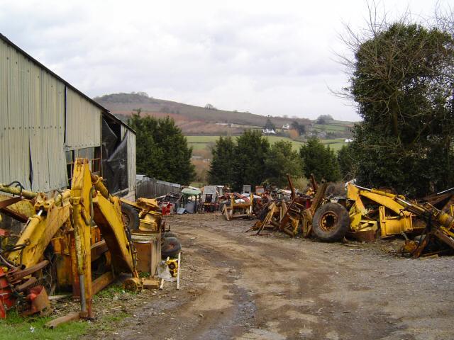Tractor Salvage Yards : File tractor scrapyard bickaton south devon geograph