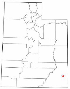 Location of Blanding, Utah