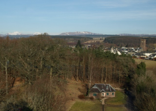 View North from the battlements of Doune Castle - geograph.org.uk - 1772889