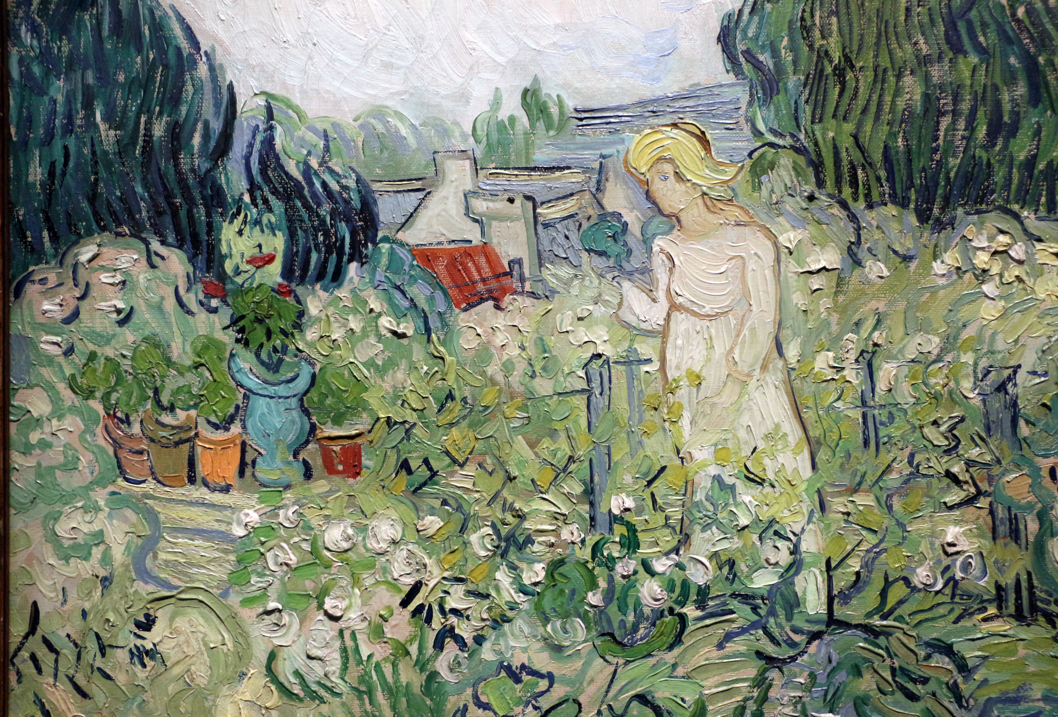 File:Vincent Van Gogh, Mademoiselle Gachet Nel Suo Giardino Ad Auvers Sur
