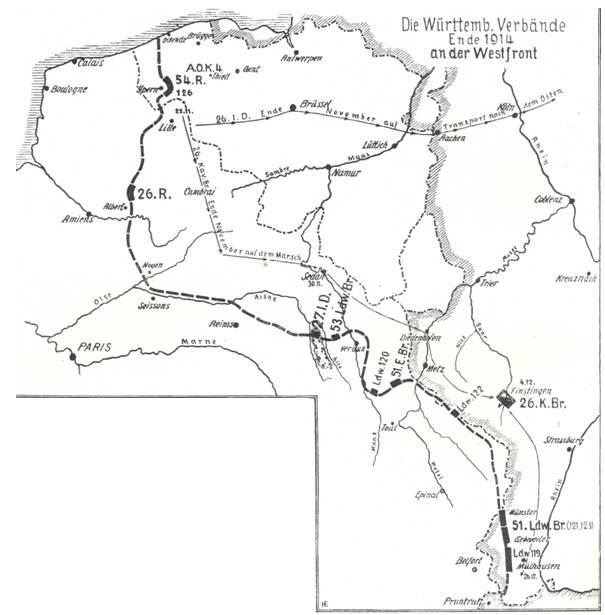 Westfront 1 Weltkrieg Karte.File Wurtt Verbande Westfront 1914 Jpg Wikimedia Commons