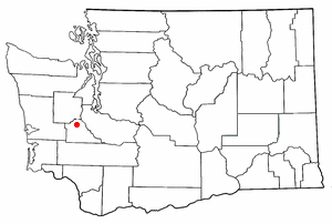 Location of Tumwater, Washington