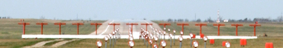 Localizer array and approach lighting at Whiteman Air Force Base, Knob Noster, Missouri.