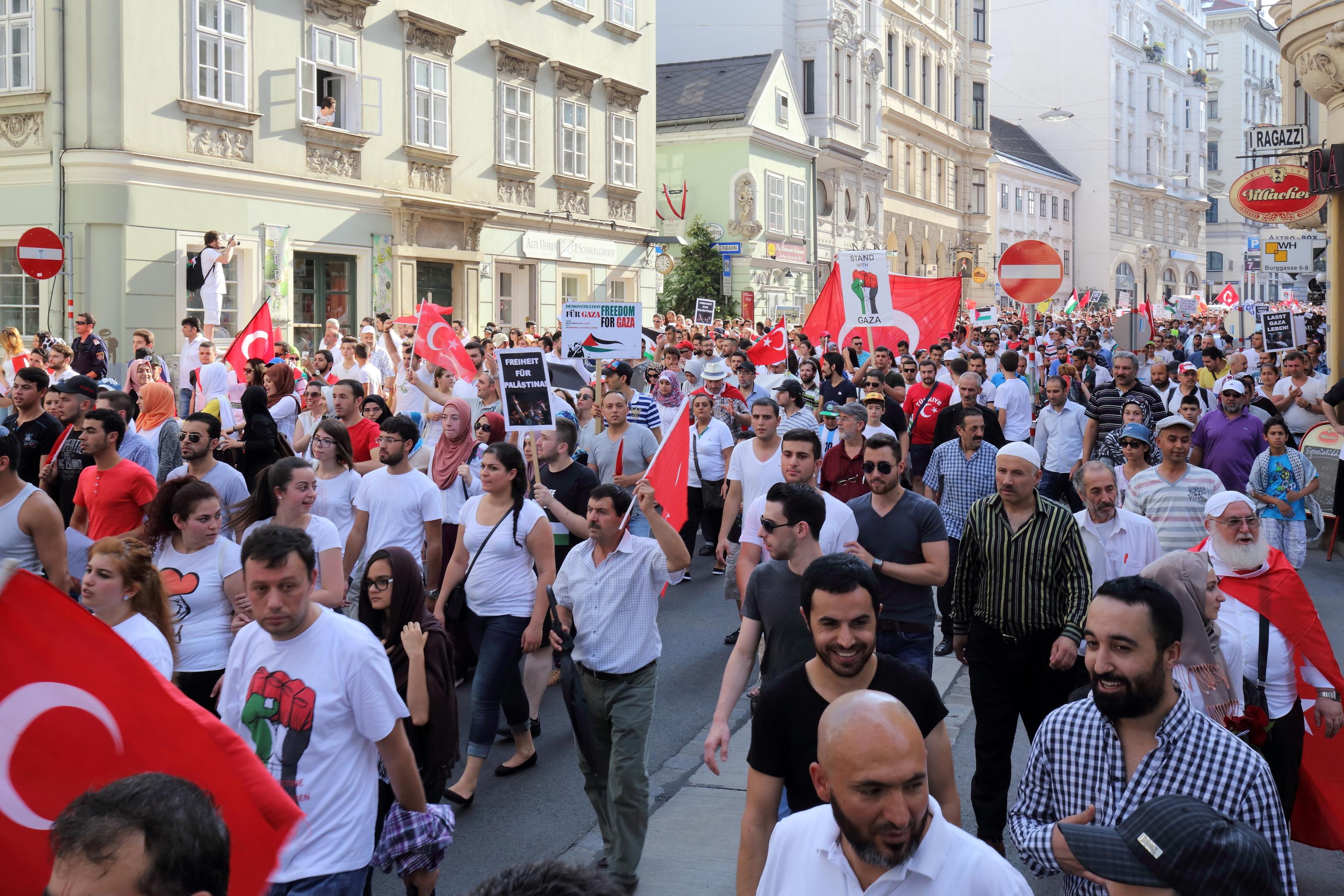 Demo Wien Photo: Demo Für Frieden In Gaza, 20. Juli 2014 (2