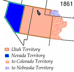 1861 partition of the Utah Territory.