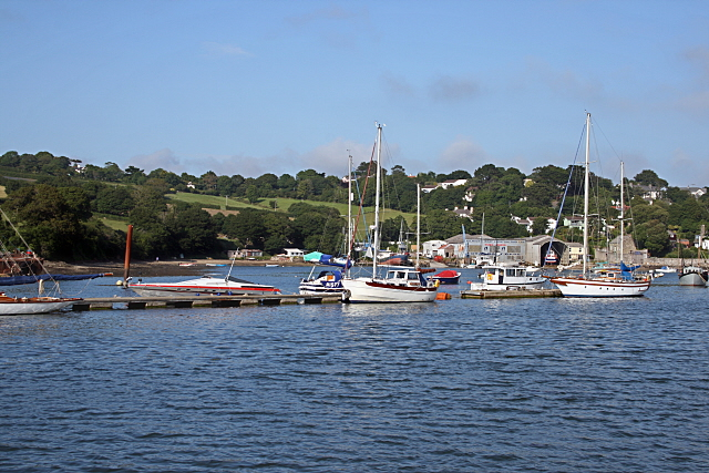 Yachts moored on the Penryn River - geograph.org.uk - 1375354