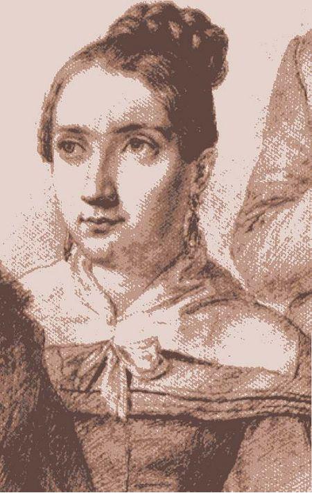 Tegning av den unge Klara