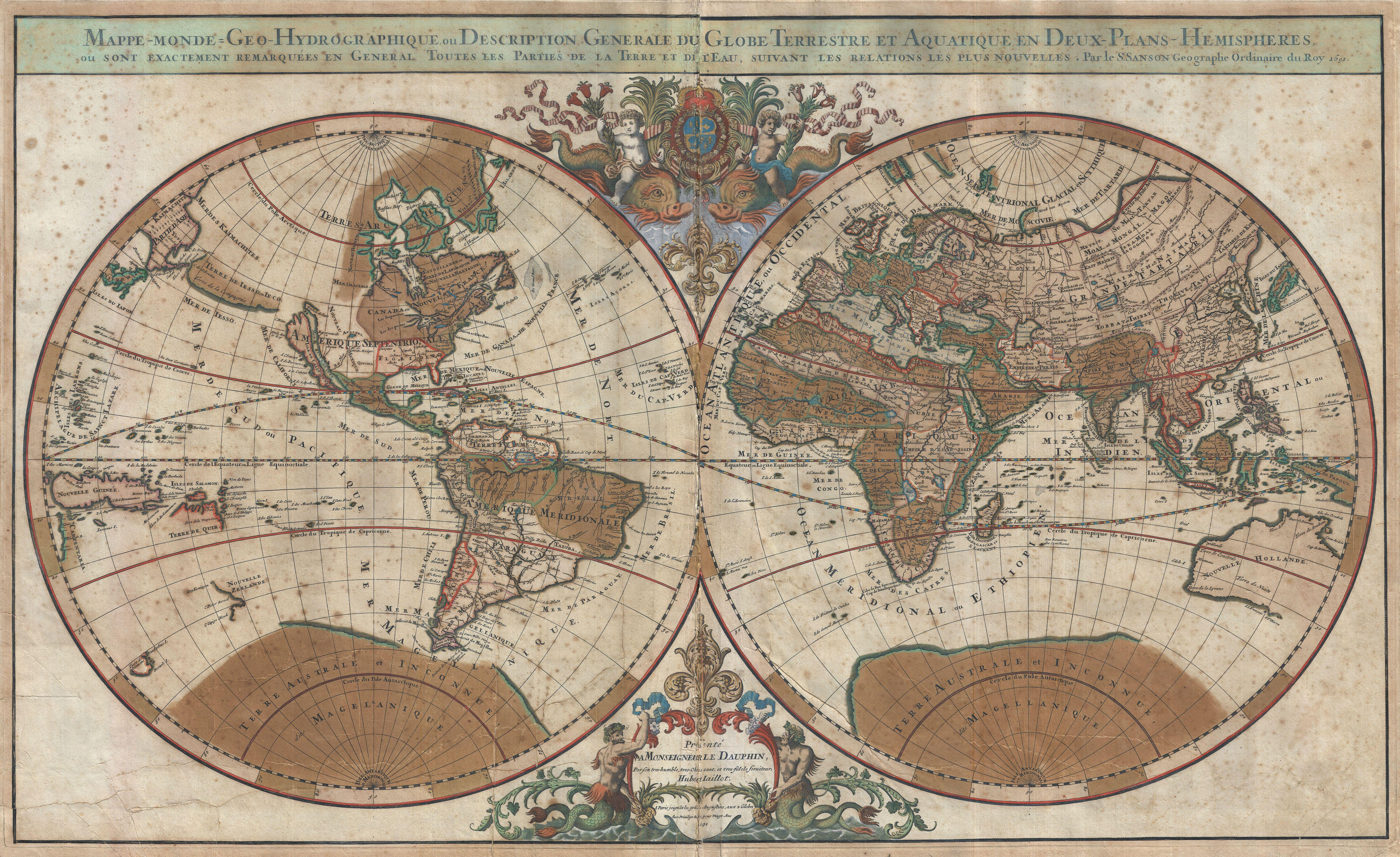 World Map, 1691