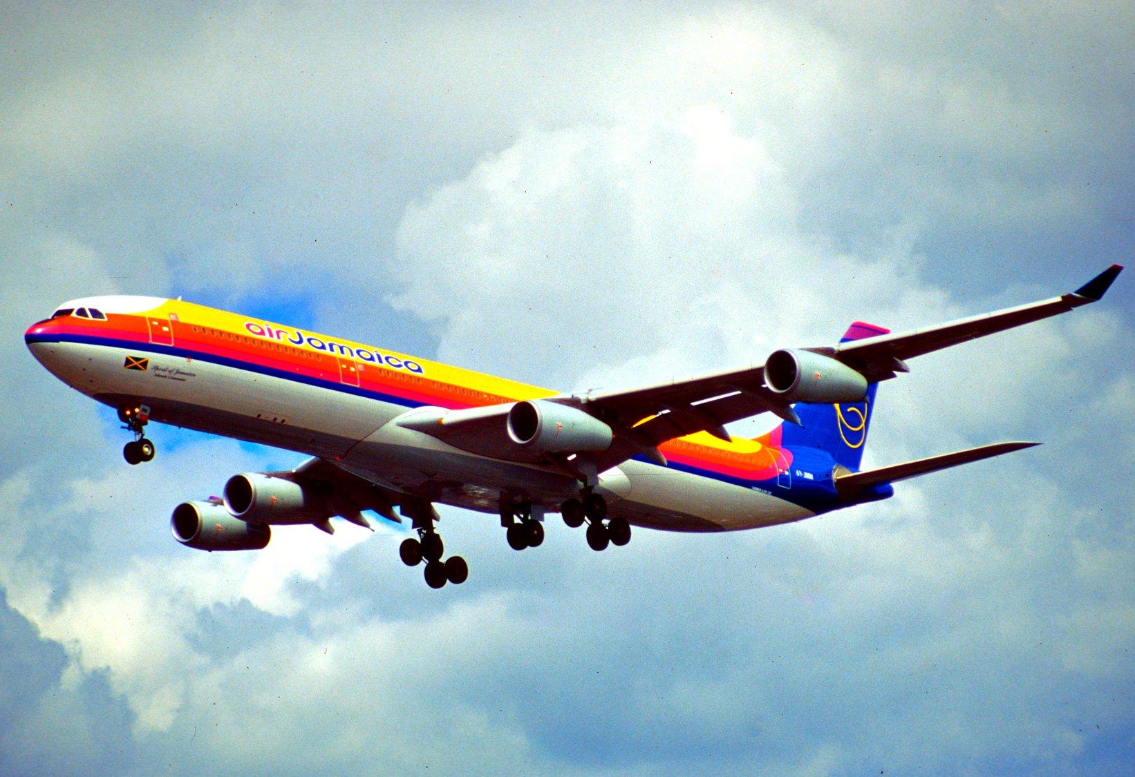 6y File:238ad - Air Jamaica Airbus A340-313X, 6Y-JMM@LHR