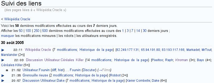 Help related changes fr mediawiki - Delamaison fr suivi de commande ...