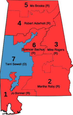 File:Alabama US House districts with Representatives.png - Wikimedia ...