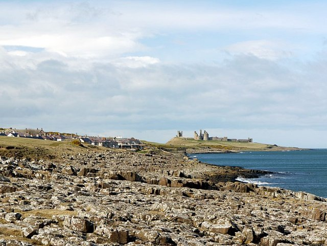 Along the rocky shore to Craster and Dunstanburgh Castle - geograph.org.uk - 1224459