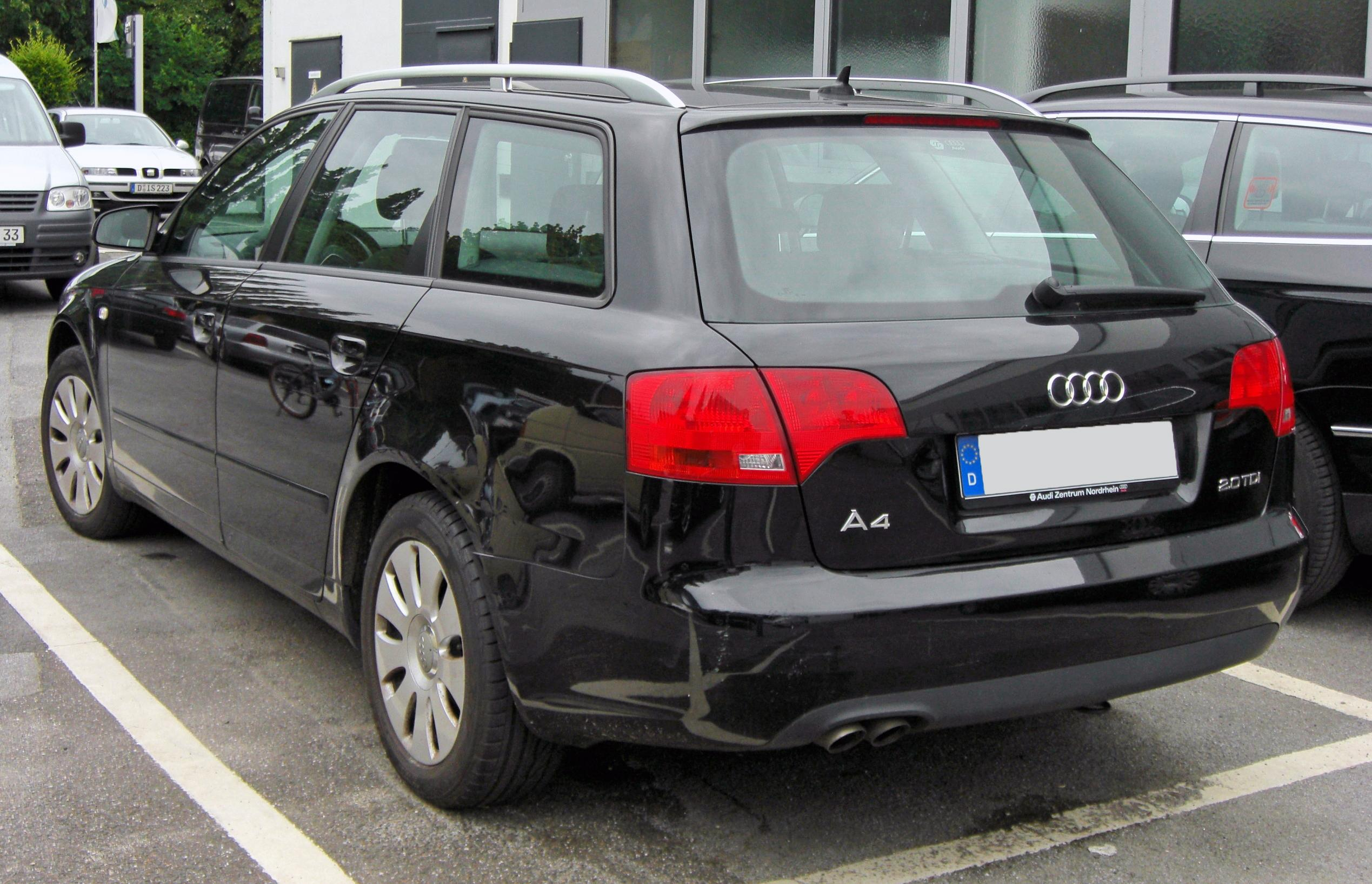 File Audi A4 B7 Avant 2 0 Tdi 20090620 Rear Jpg Wikimedia Commons